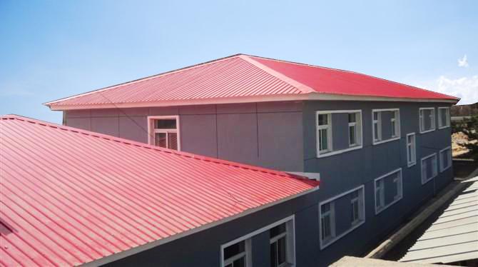房顶彩钢房结构图